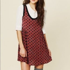 Free People Sangria Molly Dot Swing Baby Tunic